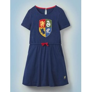 Boden Hogwarts Crest Dress - College Blue