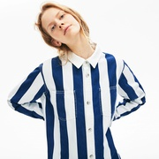 Lacoste Womens LIVE Striped Cotton Shirtdress