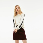 Lacoste Womens Ribbed Stretch Velour A-Line Skirt