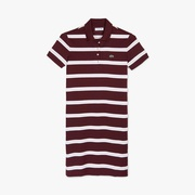 Lacoste Womens Striped Stretch Cotton Polo Dress