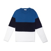 Lacoste Womens Crew Neck Colorblock Cotton, Mohair And Wool Jersey Sweater