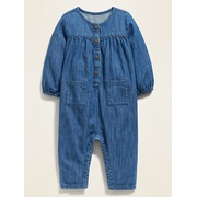 OLD NAVY Chambray Utility-Pocket One-Piece for Baby